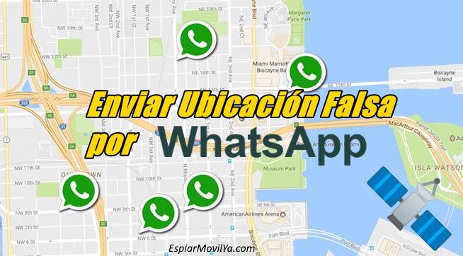 enviar ubicación simulada por whatsapp